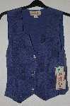 "MBADG #55-214  ""New Frontier Fancy Blue Button Front Vest Top"""