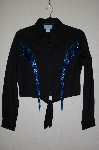 "MBADG #55-233  ""Country Tease By Adobe Rose One Of A Kind Black Hand Beaded Western Shirt"""
