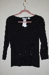 "MBADG #55-227  ""Felicity Black Knit Fancy Embelished Sweater"""