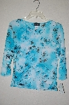 "MBADG #55-042  ""Brittany Black Fancy Blue Stretch Embelished Top"""