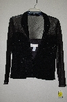 "**MBADG #55-245  ""Jeanne Alexander Fancy Black Zipper Front Jacket"""