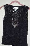 "MBADG #55-249  ""Joseph A. Fancy Black Knit Embelished Tank"""