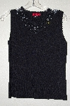 "MBADG #55-270  ""Carina Fancy Rhinestone Embelished Black Knit Tank"""