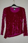 "MBADG #55-017  ""Libra Fancy DK Pink Crushed Velvet Stretch Top"""