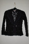 "**MBADG #55-037  ""M.K.M. Designs Fancy Black Lace Jacket"""