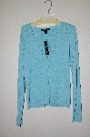 "MBADG #55-154  ""C'est City Blue Knit Button Front Cardigan"""