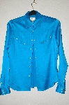 "+MBADG #55-058  ""Ryan Michael Blue Satin Fancy Western Shirt"""