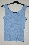 "MBADG #55-063  ""Cable & Gauge Light Blue Knit Tank"""
