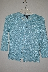 "MBADG #55-074  ""Scott Taylor Fancy Blue Floral Stretch Lace Cardigan"""