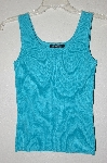 "MBADG #55-081  ""Cable & Gauge TQ Blue Knit Tank"""