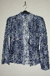 "+MBADG #55-103  ""Wrangler Fancy Blue Lace Stretch Western Shirt"""