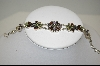 **MBA #7545  Multi Gemstone Floral Sterling Bracelet