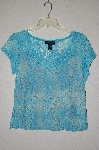 "MBADG #55-145  ""Boston Proper Fancy Lace Blue Top"""