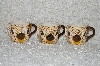 "+MBADG #31-081  ""1986 Set Of 3 Hand Painted Pig Coffee Cups"""