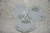 "**MBADG #31-134  ""Mitterteicn Set Of 3 Green Leaf China Desert Plates"""