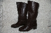 "**MBAB #29-161  ""Markon Dark Brown Leather Round Toe Scrunch Boots"""