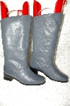 "**MBAB #29-261  ""Markon Grey Leather Round Toe Scrunch Boots"""