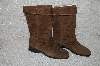 "**MBAB #29-141  ""Markon Brown Suede Pull-On Scrunch Boots"""