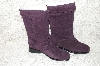 "**MBAB #29-126  ""Markon Purple Suede Pull-On Scrunch Boots"""