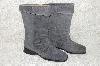 "**MBAB #29-132  ""Markon Grey Suede Pull-On Scrunch Boots"""