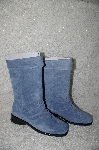 "**MBAB #29-112  ""Markon Light Blue Suede Pull-On Scrunch Boots"""