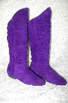 "**MBAB #29-224  ""Checkers By Betco Purple Suede Scrunch Boots"""