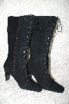"**MBAB #29-087  ""Moda Black Lace Up Suede Boots"""