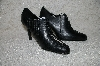 "**MBAB #29-168  ""Newport News Black Leather Open Lace Pumps"""