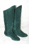 """SOLD""  MBAB #29-035  ""Jasmin Hunter Green Suede Scrunch Boots"""