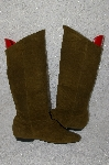"**MBAB #29-030  ""Jasmin Military Green Suede Scrunch Boots"""