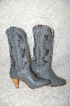 "**MBAB #29-313  ""Dingo Fancy Grey Leather Cowboy Boots"""