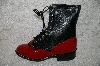 "**MBAB #29-308  ""Laredo Fancy Red/Black Leather Lacers"""