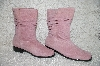 "**MBAB #29-200 ""Newport News English Rose Suede Scrunch Boots"""