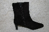 "**MBAB #29-107  ""Valenci Black Suede Zip Up Boots"""