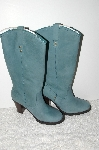 "**MBAB #99-220  ""Colin Stuart Blue Leather Tall Pull On Boots"""
