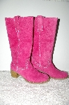 "**MBAB #99-123  ""Newport News 2007 Pink Ruby Suede Riding Boots"""