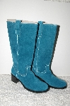 "**MBAB #99-117  ""Newport News 2007 Teal Green Suede Riding Boots"""