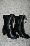 "**MBAB #99-043  ""Two Lips Black Leather Aleda Lace Up Boots"""