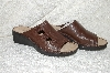 "**MBAB #99-071  ""Ducks Head Brown Leather Shelly  Open Toe Sandle"""
