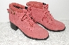 "**MBAB #99-137  ""Valley Lane Pink Suede Hikers"""