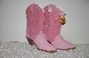 "**MBAB   #99-152  ""Dingo Pink Suede & Leather Cowboy Boots"""