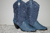 """SOLD""  **MBAB #99-101  ""Dingo Blue Suede & Leather Cowboy Boots"""