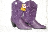 "**MBAB #99-308  ""Dingo Purple Suede & Leather Cowboy Boots"""