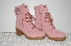 "**MBAB #99-130  ""Bigou Fand Pink Suede Lace Up Boots"""