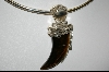 **MBA #4451  Hand Carved Tiger Eye Claw Sterling Pendant