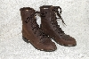 "**MBAB #99-052  ""Oak Tree Farms Brown Leather Lacer Boots"""