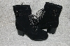 "**MBAB #99-020  ""Bigou Black Suede Lace Up Boots"""