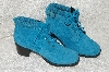 "**MBAB #99-009  ""Valley Lane Turquoise Blue Suede Lace Up Boots"""