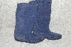 "**MBAB #99-321  ""Minnetonka Blue Suede Pull On Boots"""