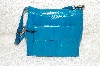"**MBAB #99-329  ""Eleskin Turquoise Hand Bag With Straps"""